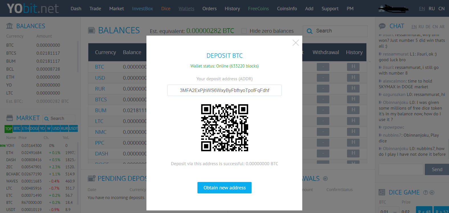 deposit - Yobit.net Crypto Exchange Review and Guide 2020