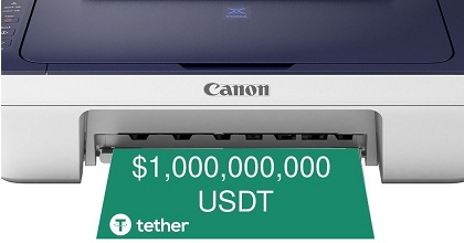 tether 351x185 - 1 Billion USDT Tokens Minted at Tether Treasury