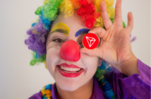tron clown 214x140 - Crypto-Clown of the Day: Justin Sun and Tron's 10 Billion Users (TRX)