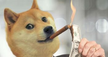 dogecoin 351x185 - Elon Musk Trolls Bitcoin on Twitter and Pumps Dogecoin by 20%